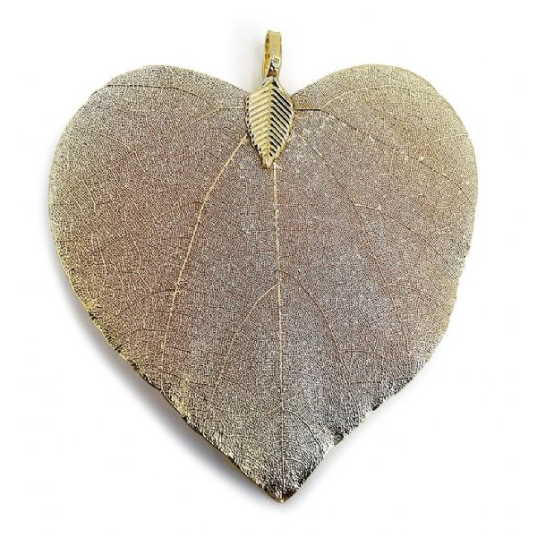 Gold Plated 'Heart' Leaf